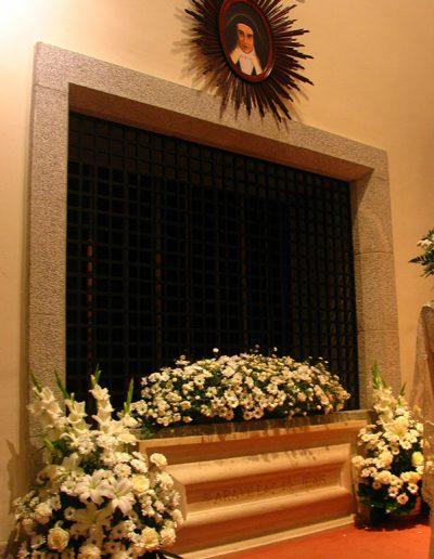 Sepulcro de santa Maravillas, iglesia del Carmelo de La Aldehuela