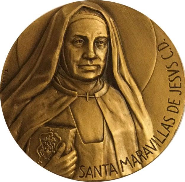 Medallón Santa Maravillas de Jesús